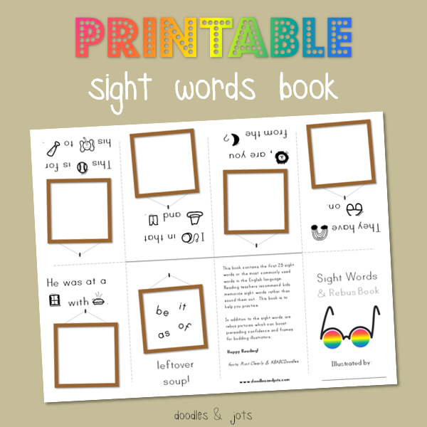 Insane image with sight word book printable